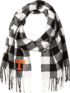 Nitro USA Buffalo Check Soft Fringe Scarf with Embroidered Tennessee Power T Applique