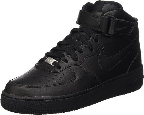 Nike WMNS AIR FORCE 1 '07 MID, Sneaker a collo alto Donna, Nero ...