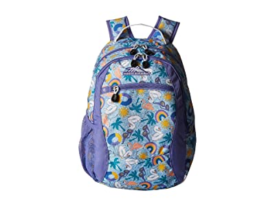 High Sierra Curve Backpack (Pool Party/Lavender/White) Backpack Bags
