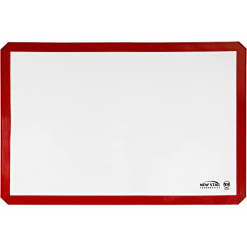 New Star Foodservice 36596 Commercial Grade Silicone Baking Mat Non-Stick Pan Liner, 17 x 25 inch (Full Size)
