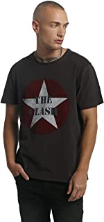 The Clash T Shirt Star Band Logo 新しい 公式 メンズ Amplified Vintage Charcoal Size M