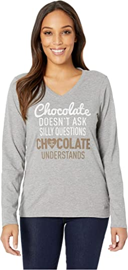 Chocolate Questions Crusher™ Long Sleeve Vee