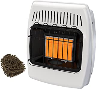 Dyna-Glo IR12NMDG-1 Wall Heater, 12,000 BTU, Natural Gas Infrared Vent-Free (Complete Set), with Microfiber Cleaner Bundle