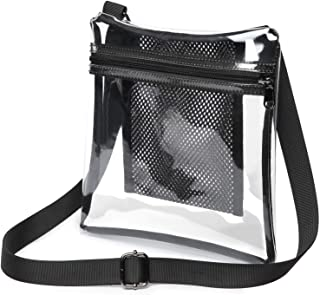 Clear Crossbody Purse NFL Stadium Approved Clear Bag for Women and Man with Adjustable Strap