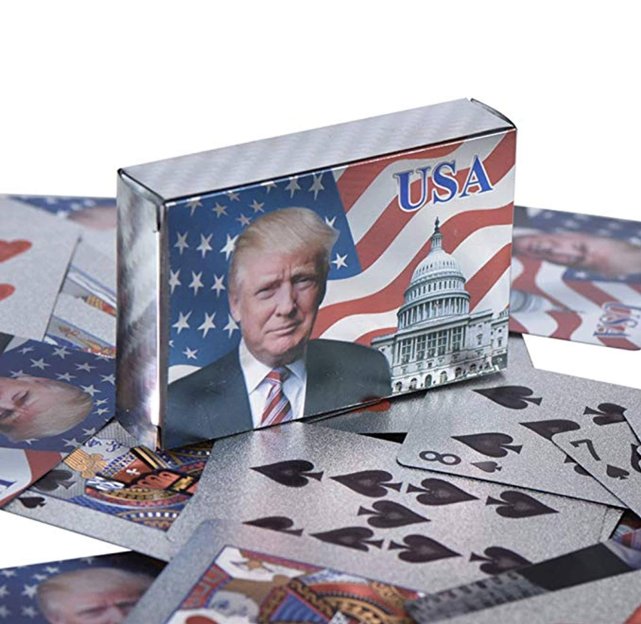 GenZ Donald Trump Juego de Cartas – Cartas de póquer Resistentes al Agua para Juegos de Mesa, Buen Regalo para Amigos, Hombres, Mujeres: Amazon.es: Deportes y aire libre
