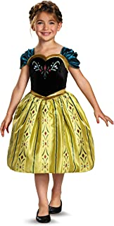 Disneys Frozen Anna Coronation Gown Classic Girls Costume, X-Small/3T-4T