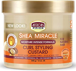 African Pride Shea Butter Miracle Curl Styling Custard 340 g/12 oz by AFRICAN PRIDE