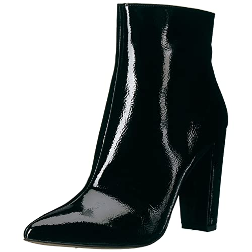 230c87c3a4 Women's Black Patent Leather Boots: Amazon.com