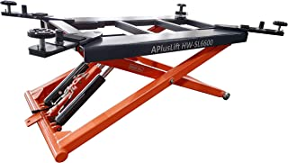 APlusLift HW-SL6600 Mid Rise 6600LB Auto Scissor Lift 110V / 5 Year Structural Parts Warranty