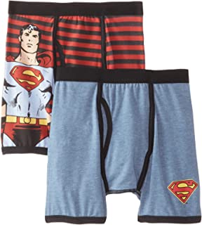 DC Comics Boys' Little Batman 2 Pack Vintage Superman Boxer Brief Underwear, Multi, 4