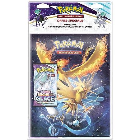 Pokémon - Pack Portfolio 180 Cartes + 1 Booster - Epée et Bouclier - Règne de Glace (EB06) - Jeu de Cartes à Collectionner - Modèle aléatoire