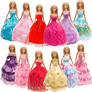 SOTOGO 12 Pieces Doll Clothes for 11.5 Inch Girl Doll Fashion Handmade Doll Dresses Wedding Dresses Evening Dresses Party ...