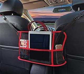 Car Net Pocket Handbag Holder, Car Purse Holder, 3-Layer Car Mesh Organizer for Bag Purse Phone Documents , Handbag Holder...