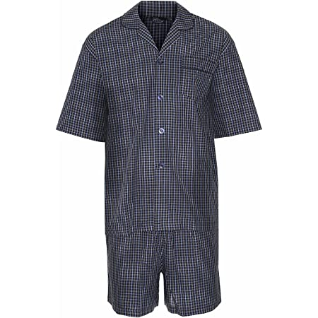 Champion Mens Polycotton Short Pyjama Lounge Wear Set M Navy