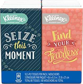 Kleenex Facial Tissues, 10 count, 8 pk