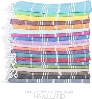 "Pescara Turkish Bath Towels 1 Set of 37/""x70/"" Inches Peshtemal and 2 Sets of 20/""x30/"" Hand Face Towel Set 100/% Cotton Super Soft Thin Travel Bath Sauna Beach Camping Absorbent Light W-Beige"
