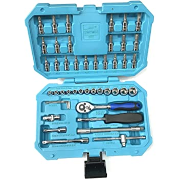 Taparia SA46 Steel Socket Set (Blue, 46-Pieces)