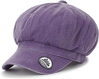 00ece2b7f88ec ililily Washed Cotton Newsboy Cabbie Cap Solid Color Duck Bill Flat Hunting  Hat