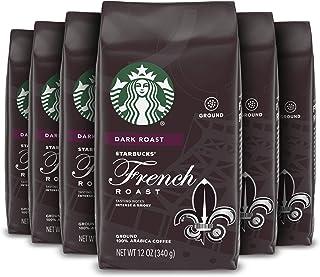 Starbucks Dark Roast Ground Coffee — French Roast — 100% Arabica — 6 bags (12 oz. each)