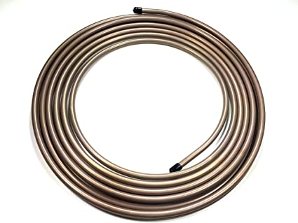 """The Stop Shop Roll of 3/8"""" Copper Nickel Fuel / Transmission Line (.375) 25 Feet: image"""
