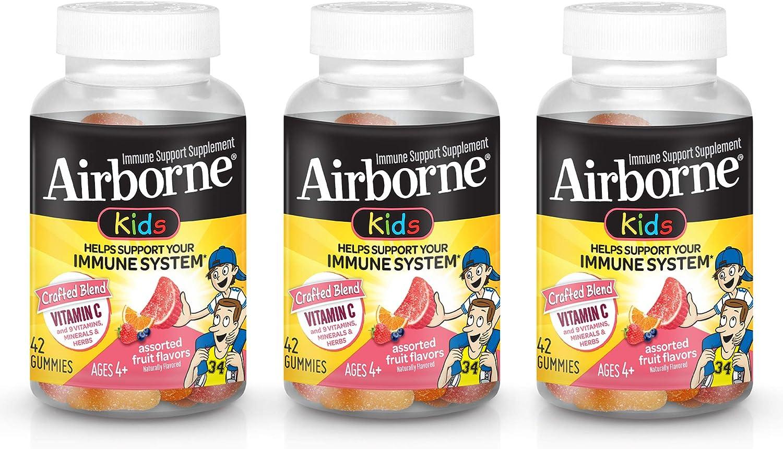 未使用 Airborne Kids Gummies Vitamin C 返品交換不可 Immune Supplement Assor Support