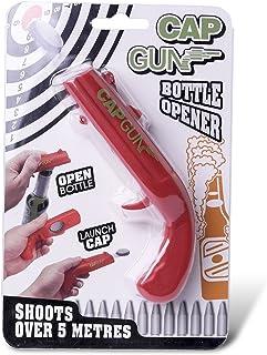 Cap Gun Launcher Shooter Bottle Opener,Beer Openers – Shoots Over 5 Meters (Red)