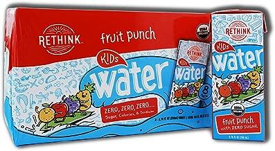 Rethink Kids Water, Fruit Punch, Flavored Water, Zero Sugar, Zero Calorie, Zero Sodium, 100% Recyclable, 200 mL Carton, Pack of 32
