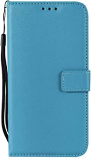 LG G6 ケース Zeebox? 手帳型 PU レザー カード収納 スタンド 機能 ストラップ付き エルジー LG G6 おしゃれ 人気スマホケース 衝撃吸収 全面保護 カバー –ブルー