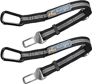 Kurgo Seatbelt Tether for Dogs | Universal Car Seat Belt for Pets | Adjustable Dog Safety Belt | Zipline | Swivel Clip | C...