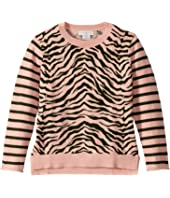 Stella McCartney Kids - Zebra and Stripes Sweater (Toddler/Little Kids/Big Kids)