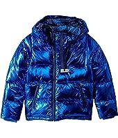 Kenzo Kids - Metallic Blue Mini Me Jacket (Big Kids)