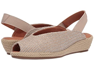 Gentle Souls by Kenneth Cole Luci Slingback (Natural/Silver Fabric) Women