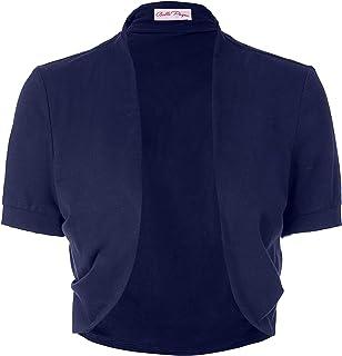 Belle Poque 女式短袖披肩前开棉开衫开衫开衫