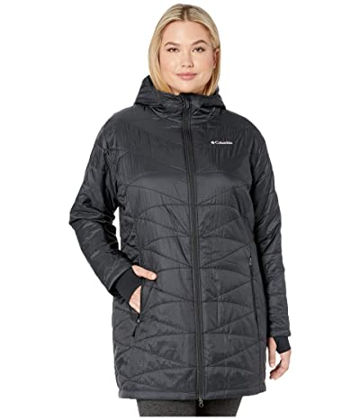Columbia Plus Size Mighty Litetm Hooded Jacket (Black) Women