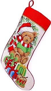 Peking Handicraft Teddy Bear Needlepoint Stocking