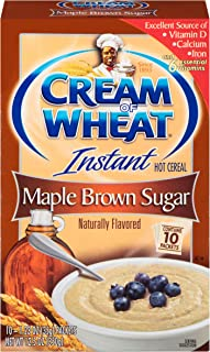 Cream of Wheat, Instant Hot Cereal, Maple Brown Sugar, 12.5 Oz