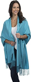 Cashmere & Class Large Soft Cozy Cashmere Pashmina Woven Scarf Wrap Womans Warm Shawl Stole+ Gift Box