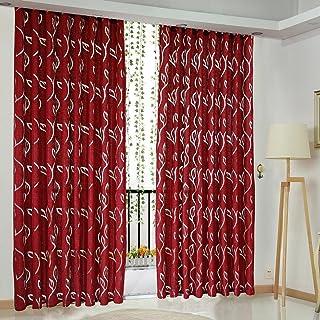 Hogar y cocina prosperveil Cortinas de Salon Flores Cortinas Opacas Impresas Cortinas Cortinas para el Dormitorio de Estar Windows