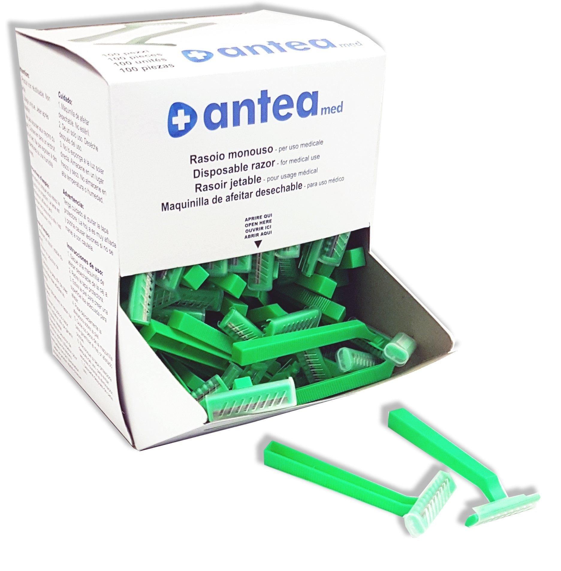 Maquinilla de afeitar desechable para tricotomía, en caja de 100 ...