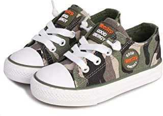 c333d026283ba8 Weestep Toddler Little Kid Boys and Girls Slip On Canvas Sneakers