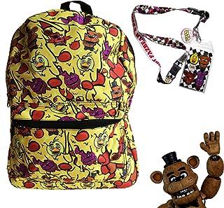 FNAF Five Nights at Freddys School Backpack Luggage Bag with Lanyard (FNAF Cheese ...