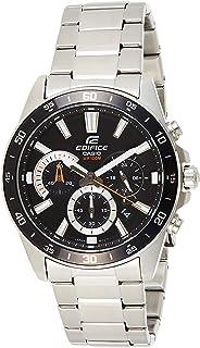 ساعة كاسيو ايديفيس للرجال بقرص اسود ستانلس ستيل كرونوغراف - EFV-570D-1AVUDF