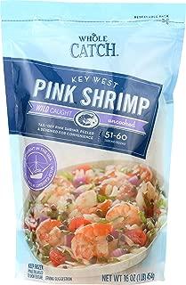Whole Catch, Uncooked Tail-Off Key West Pink Shrimp, 16 oz, (Frozen)