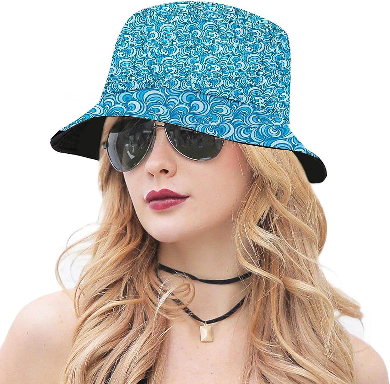 Multicolor San Antonio Mall Unisex Cute Bucket Hat Sun Brim Wide Cap Popular brand