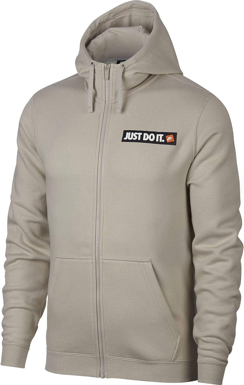 Nike Men's Sportswear Full-Zip Fleece Hoodie Brown