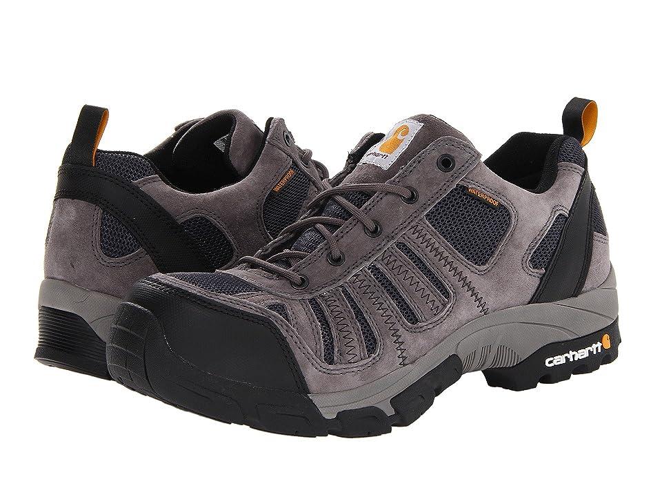 Carhartt Lightweight Low Waterproof Work Hiker Composite Toe (Grey Suede/Navy Mesh) Men's Work Boots