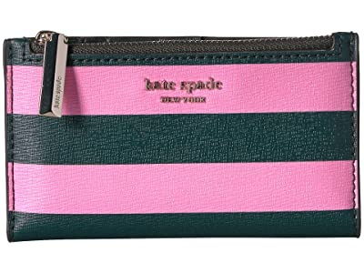 Kate Spade New York Small Slim Bifold Wallet (Pink Multi) Cross Body Handbags