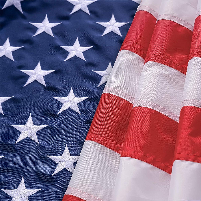 American Under blast sales Flag 5x8 FT Superlatite hogardeck Du Heavy US Indoor Outdoor