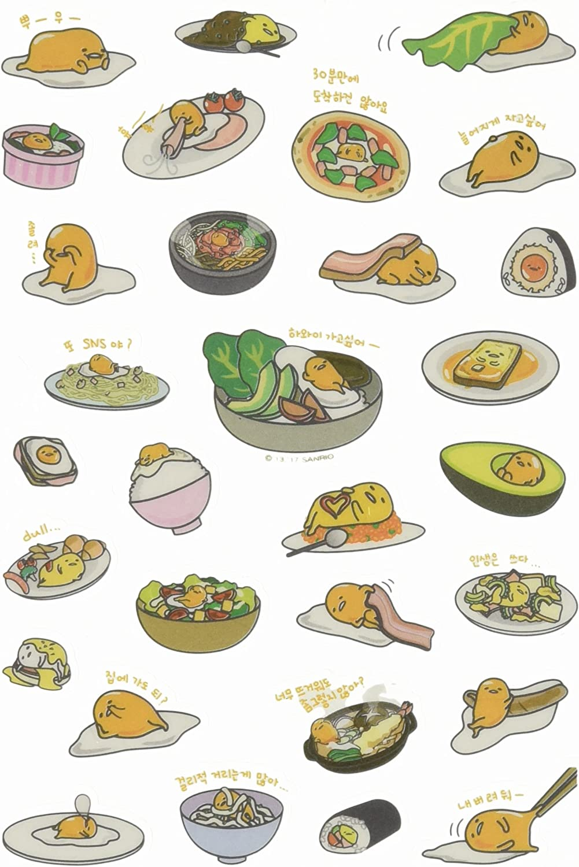 Gudetama Sushi & Egg Funny Sticker