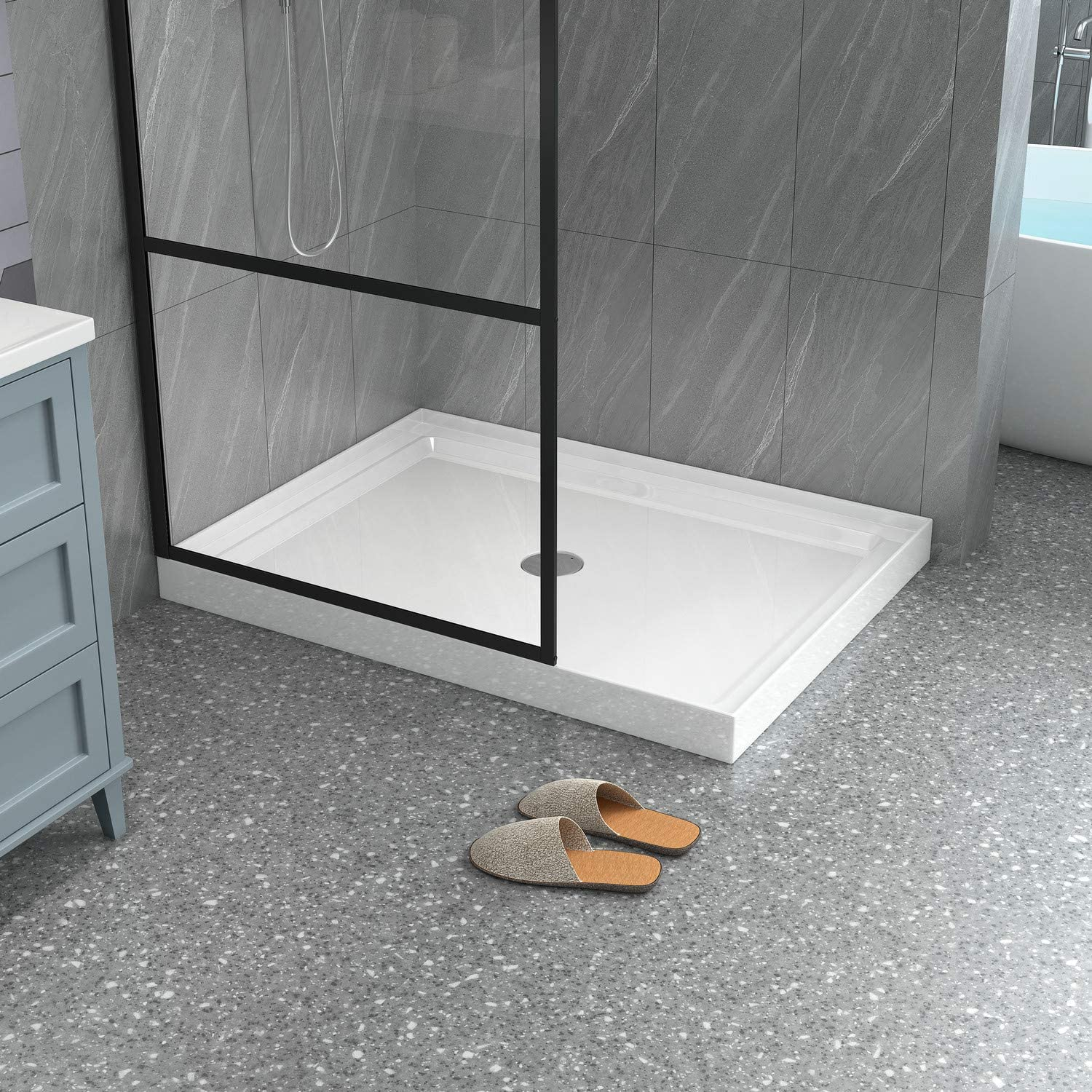 Goodyo Shower Pan in White Max 45% OFF 36 48 Height Base 3.5